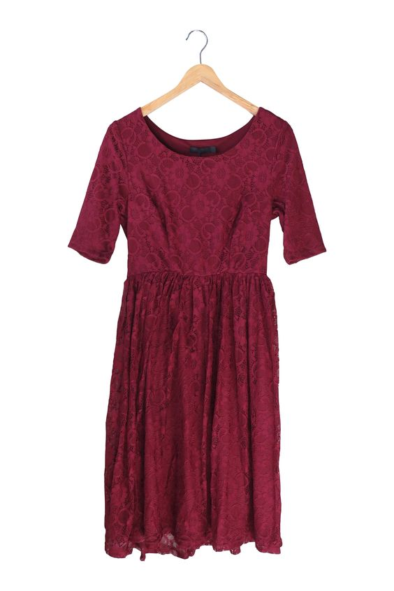Emmy Dress in Burgundy | ROOLEE