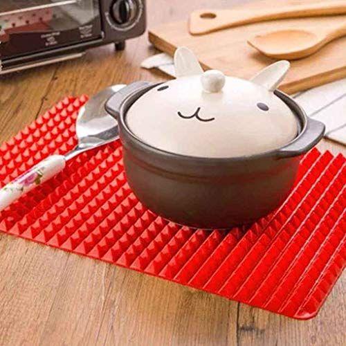 Omkuwlq Silicone Bbq Baking Mat Nonstick Pan Pad Cooking Mat Oven Baking Tray Kitchen Bakeware Gadgets Kitchen Home Cooking Mat Bbq Gifts Kitchen Bakeware
