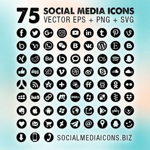 Round Social Media Icons New Socialmediaicons Social Media Icons Media Icon Black Social Media Icons