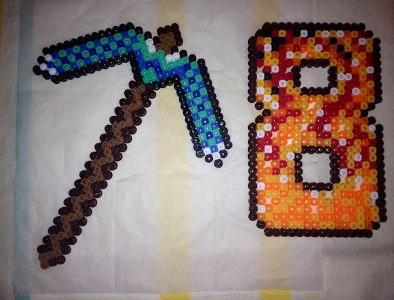 Large Minecraft cake toppers that my son and I made ...