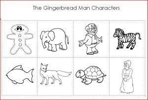 Gingerbread printable for preschool