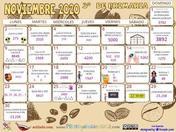 Calendario Tercero ABN – Noviembre 2020