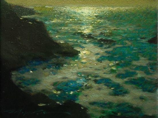 "Fredric Michael Wood ~ ""Jewels on the Sea"" ~ Oil:"
