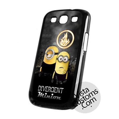 Minion Divergent Funny Cartoon Cell Phones Cases For iPhone, Samsung Galaxy