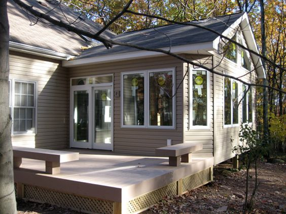 Pictures Of Sundecks Stairs And Benches: Sunroom And Porch With Built-in Benches By Burke