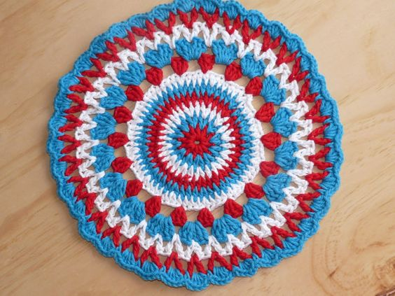 Hey, I found this really awesome Etsy listing at https://www.etsy.com/listing/119786740/crochet-cotton-doily-mandala-teal