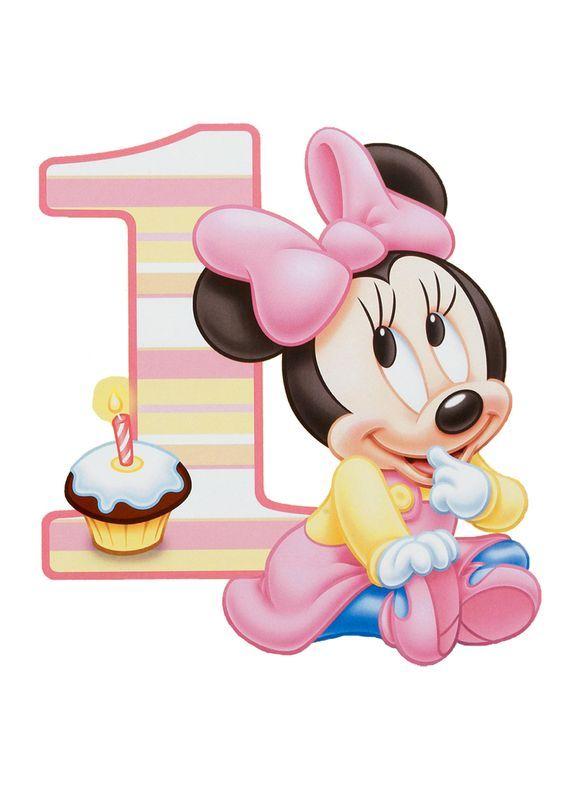 Minnie Mouse Gold Pink Striped Photo Birthday Invitation