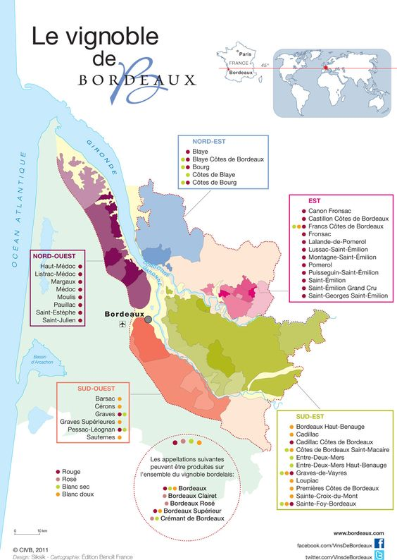 Vins de Bordeaux | Terroir, carte du vignoble, appellations - Vins de Bordeaux
