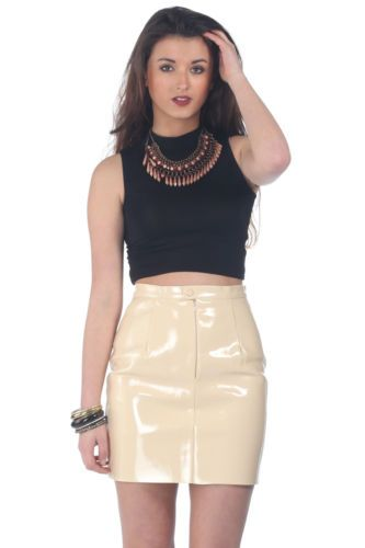 Naomi Nude PVC Skirt New with Tags | eBay