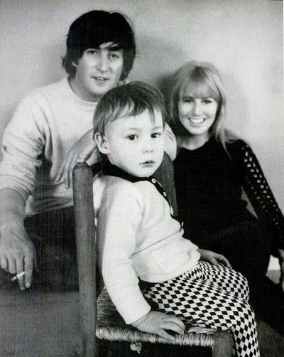 John, Cynthia & Julian Lennon...John's First Family....He Would, After A Short Affair, Leave His Childhood Sweetheart Wife and Son For His New Love, Yoko Ono...Both Would, Seemingly, Never Be Quite the Same...A Beautiful Family Lost Forever...