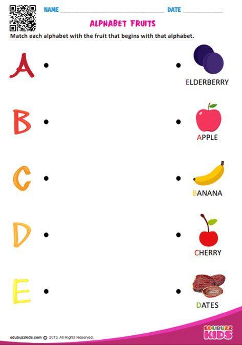 Matching Free Printable Preschool Letter Worksheets - Preschool Worksheet  Gallery