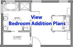 Bedroom Addition Plans Menu