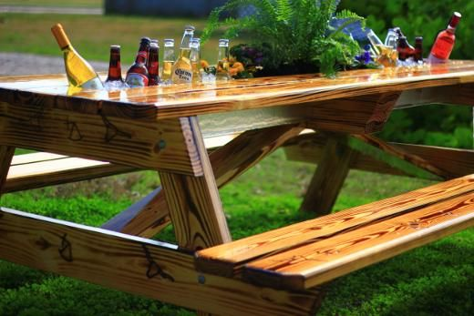 Picnic Tables Picnics And Beer On Pinterest