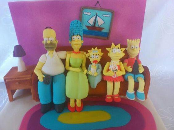 Torta de los Simpson