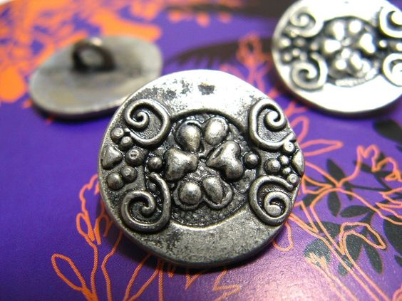 Tibetan Silver Style Vines and Fruit Pattern Buttons.self shank. 0.70 inch, 10 pcs by Lyanwood, $5.00