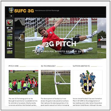 Sutton United FC 3G Pitch Home Page