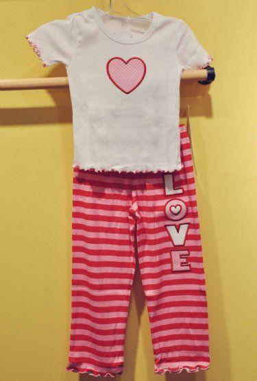 Girls Valentine Pajamas at Cassie's Closet | Girls Valentine ...