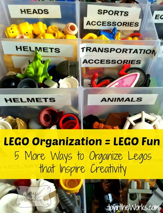 Organize your kids' Legos in a way that will encourage more creative play!  This type of box will make them feel like they are building their own mini-figures at the Lego Store!