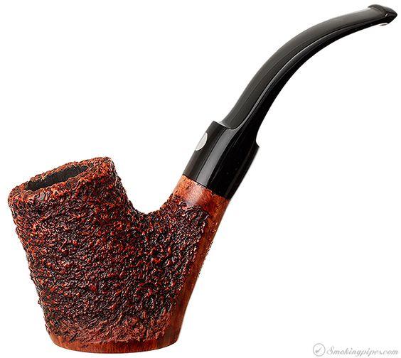 Mastro de Paja Brugo Rusticated Cherrywood (9mm) Pipes at Smoking Pipes .com