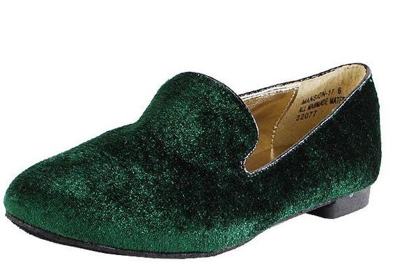 velvet penny loafer #ChicofJuly