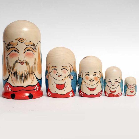 New Products. Matryoshka Japanese Fukuruma is a hand-painted nesting doll painted on motiv... http://russian-crafts.com/nesting-dolls/matryoshkas/matryoshka-japanese-fukuruma.html: