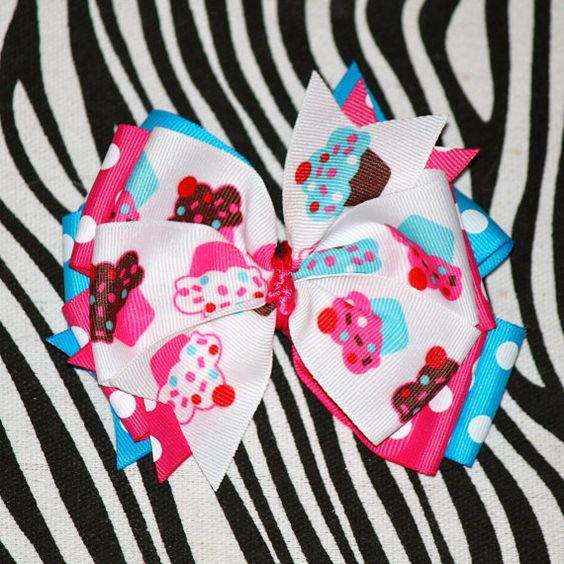 Cupcake Boutique hair bow by MegansHairCandy on Etsy, $6.50