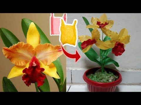 Diy Bunga Anggrek Cattleya Dari Plastik Kresek How To Make