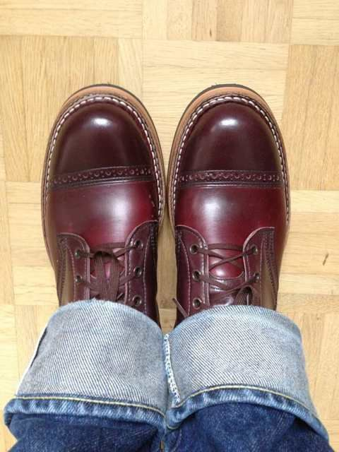 White s semi dress cordovan shoe
