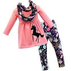 Unicorn Tunic Outfit w/ Infinity Scarf