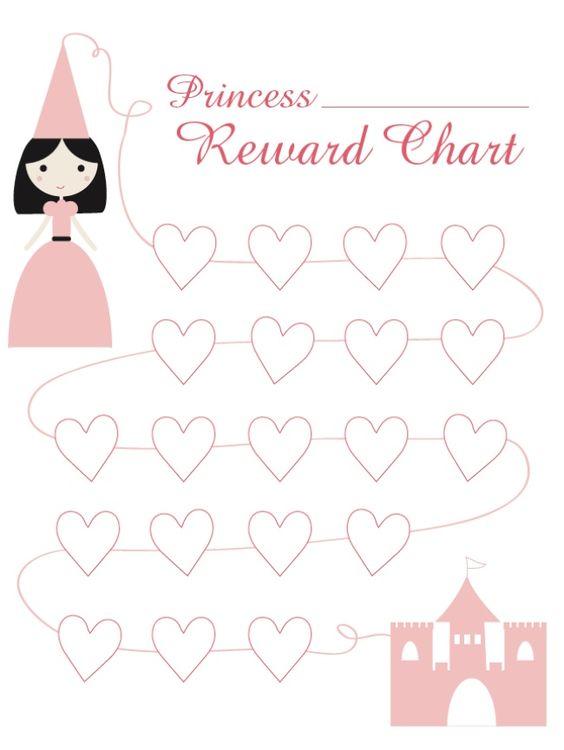 Princess Reward Chart {free printable} Learning for kids - sticker chart