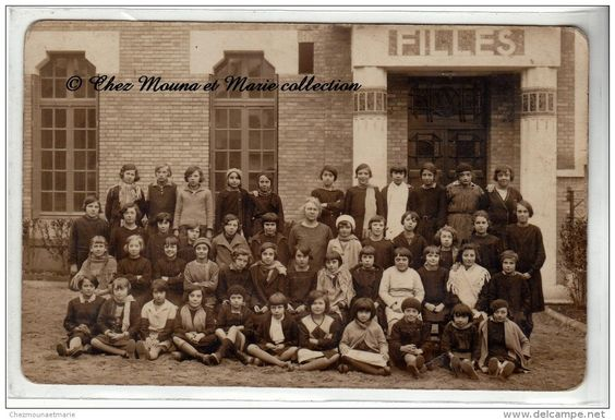 PHOTO DE CLASSE - ECOLE DE FILLES - CARTE PHOTO
