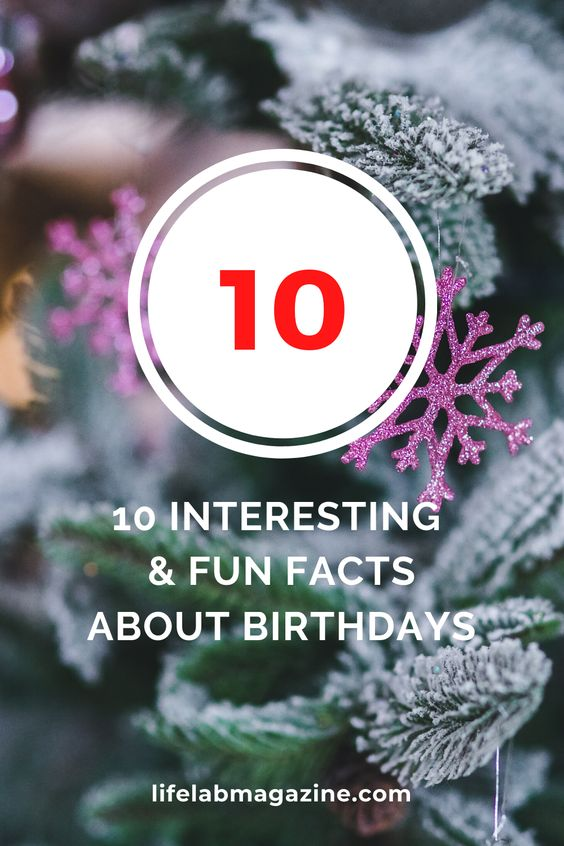 10 Interesting & Fun Facts About Birthdays