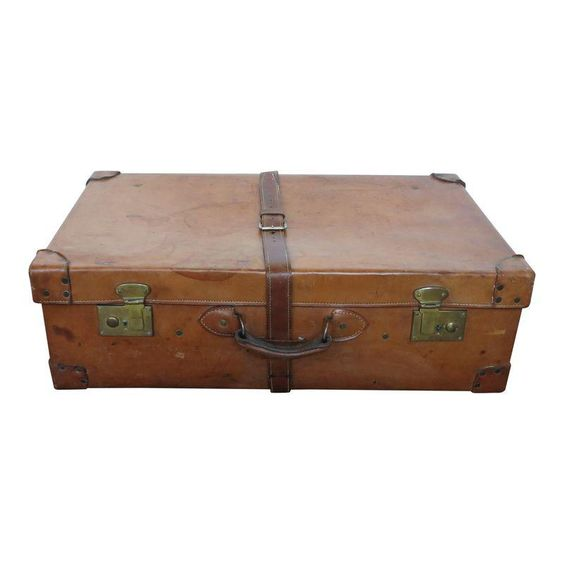 Vintage Leather Suitcase In Large Size Avec Images