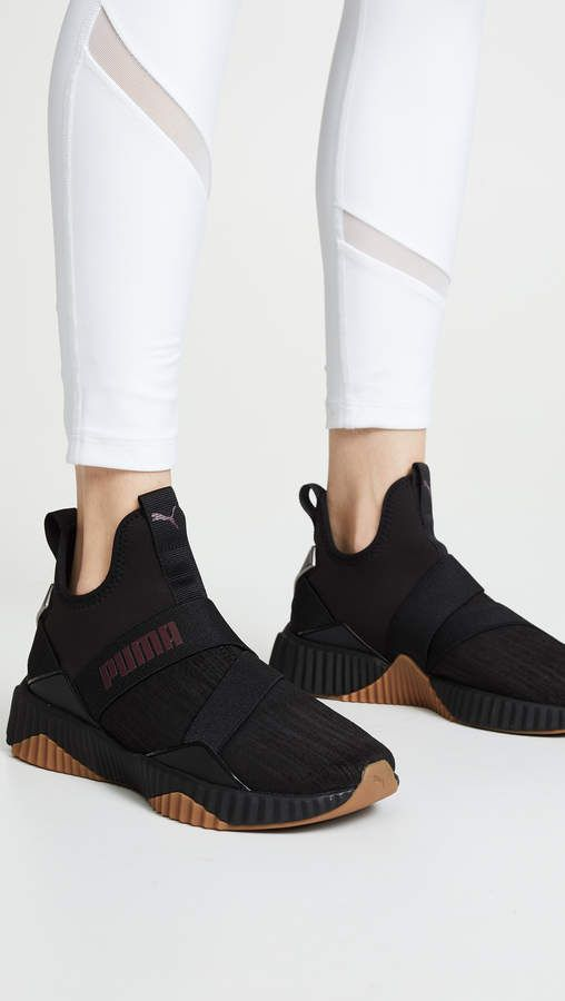 39ece97440 Puma Defy Luxe Sneakers #Defy#Puma#Sneakers | Black & Silver in 2019 ...