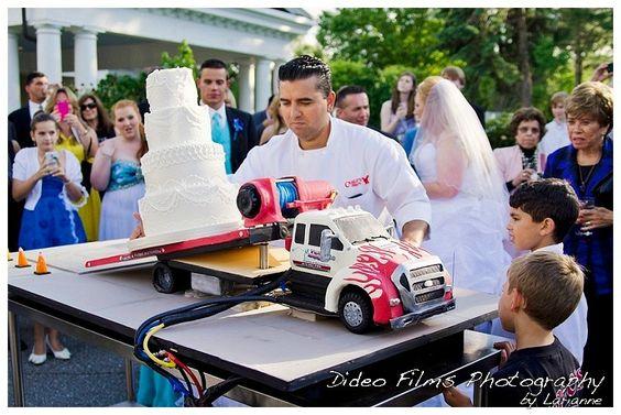 Tow truck wedding cake