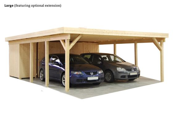 Wood carport kits wooden carports and carport kits on for 3 car carport designs