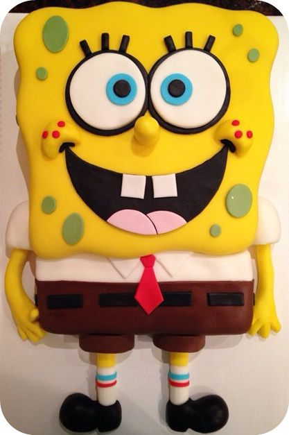 spongebob cake spongebob birthday party pinterest. Black Bedroom Furniture Sets. Home Design Ideas