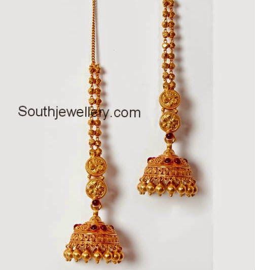 Gold Earrings Jhumka Design For Kids More information