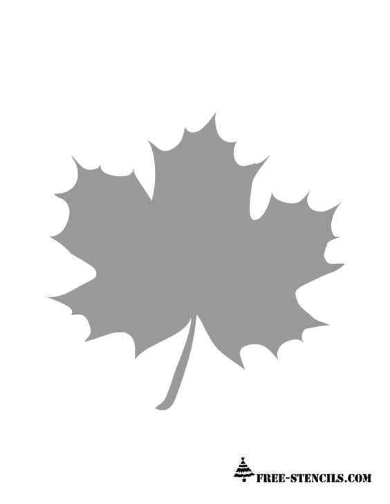 Best images about stencils to make maple leaves