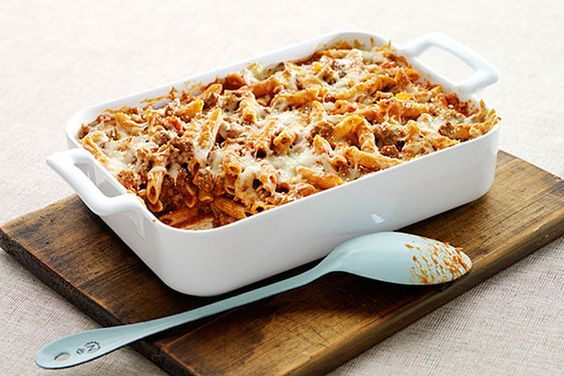 Combine Parmesan and mozzarella to give this pasta bake its Italian appeal. This Easy Italian Pasta Bake is oven-ready in 20 minutes.