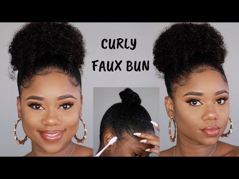 Slick Curly High Bun On 4c B Natural Hair Simple Glam Betterlengths Youtube Natural Hair Styles Easy Natural Hair Styles Natural Hair Puff