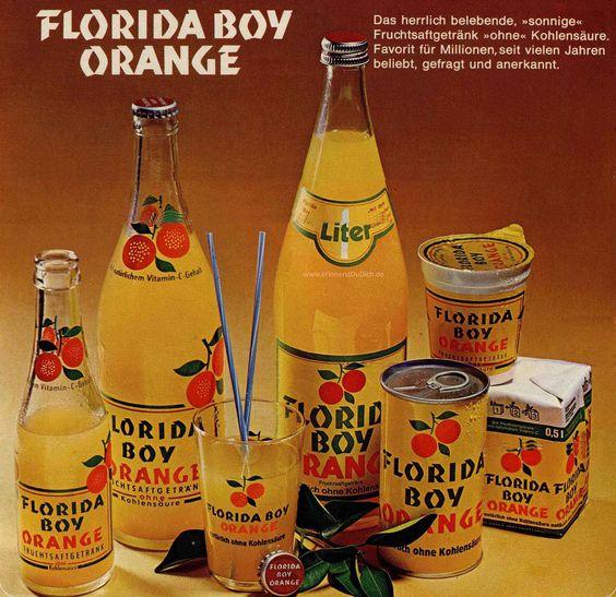 Florida Boy Orange war ein Kultgetränk in den 70er Jahren, das anfangs von Pepsi-Cola produziert und später verkauft wurde. Es war ein leckeres Fruchtsaftgetränk mit Orangengeschmack ohne Kohlensäue und mit natürlichem Vitamin C. Florida Boy wurde als Flasche, Dose, Kunststoffbecher und Tetrapak vertrieben. Im Winter konnte man es auch prima als warmen Saft trinken. Die…