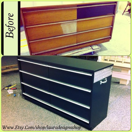 Tool Chest Dresser Makeover: Tool Box Dresser, Before After Furniture And Boys