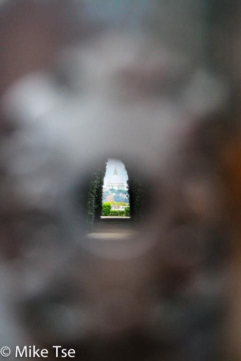 View of the capital from a keyhole