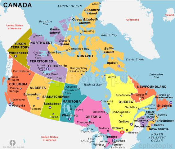 Canada Map Of Provinces And Capitals – Map of Provinces and Capitals of Canada