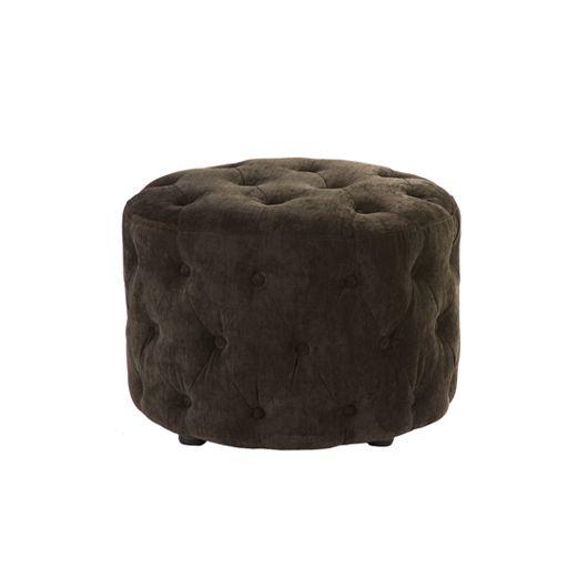 Bespoke Velvet buttoned foot-stool