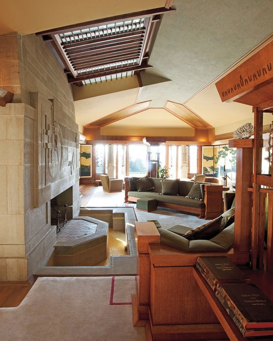 Interior Of Hollyhock House Frank Lloyd Wright Design House Frank Lloyd Wright Architecture