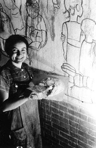 Photographs mexican artists and for her on pinterest for Diego rivera mural new york rockefeller