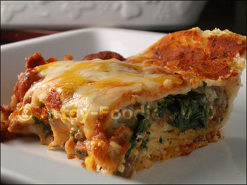 Spinach and Bean Enchilada Casserole