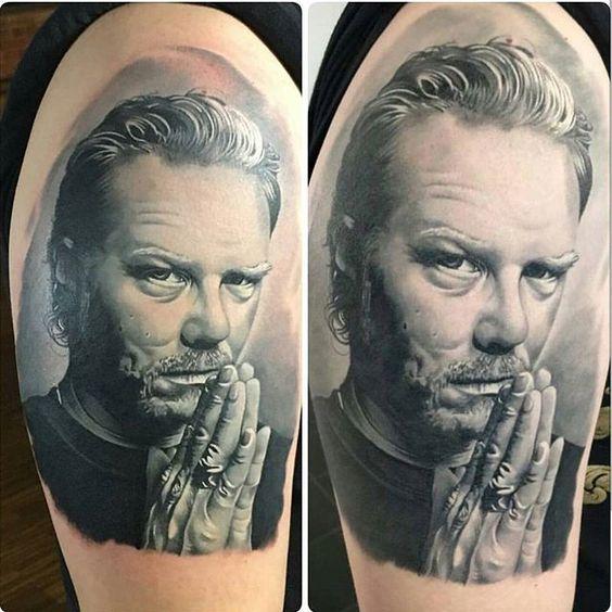 HETFIELD!! Tattoo By @marceldaatz @marceldaatz !! _______________________________ #tattooinspiration #tattoosofinstagram #inkedup  #татумастер #tatu. #татуировки #tatovering. #tattootime.  #tätowierung #문신 #tatuaż #tatuaggio  #タトゥー #tato #tattooitalia #tatouages #tatuering #artenapele. #tattooed #tatuador #tatuaje #tatuajesenfotos #وشم #amazingtattoos #realistictattoos  #colortattoos #blackngrey #tat